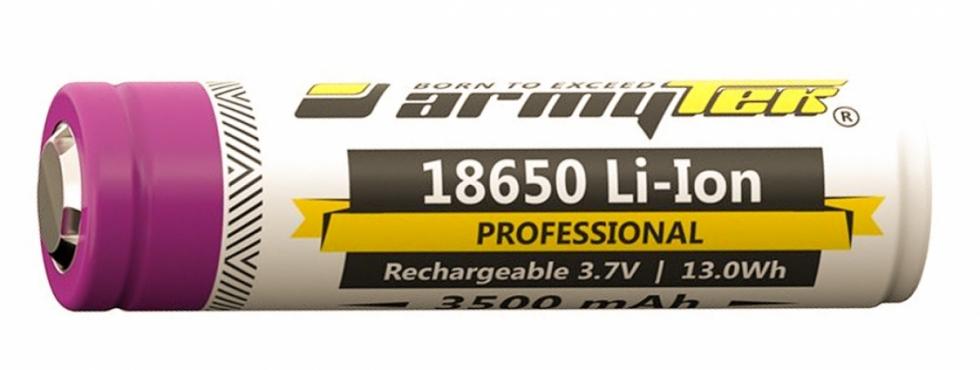 Аккумулятор ARMYTEK 18650 Li-Ion с защитой 3500mAч