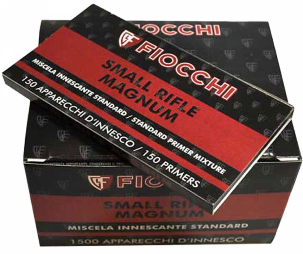 Капсюль Fiocchi (small rifle magnum) малый винтовочный, 150 шт