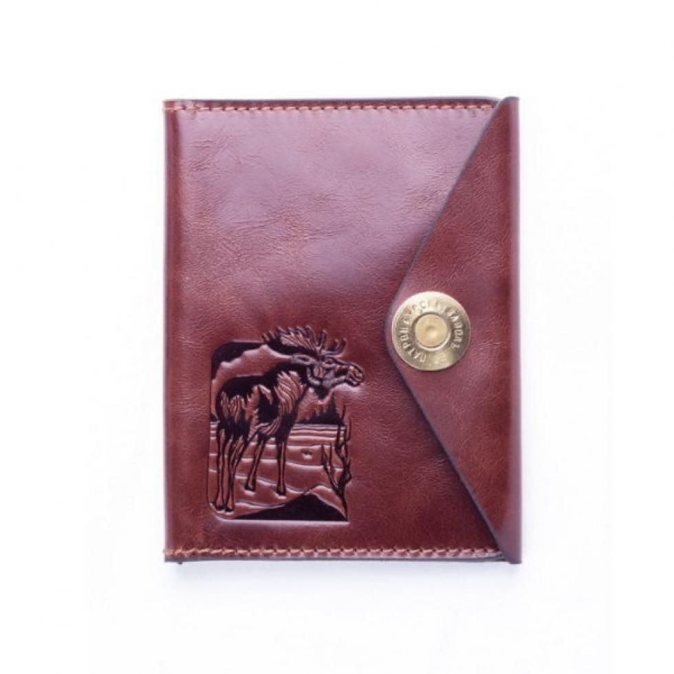 Обложка для Охотничьих документов коричневая