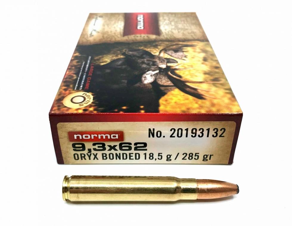 Norma 9,3x62, Oryx, SP, 18,5 гр, 20 шт.